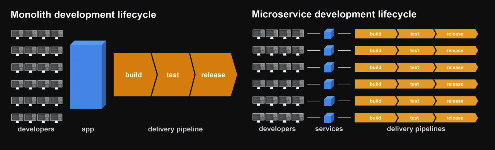 Amazon embraced microservices architecture to shorten the development lifecycle